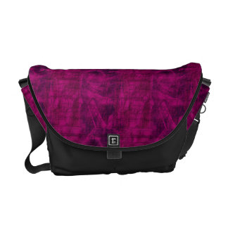 Purple Texture Messenger Bag