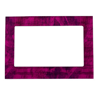 Purple Texture Photo Frame Magnet