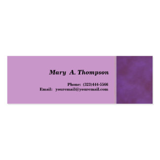 Purple texture side border pack of skinny business cards