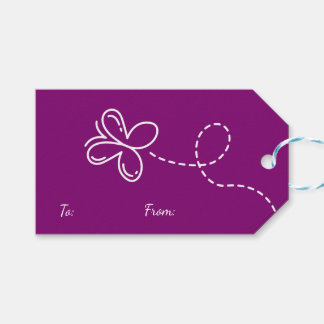 Purple Thank You Butterfly  Party /  Wedding Gift Tags