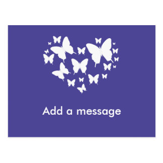 Purple Themed Butterfly Postcard