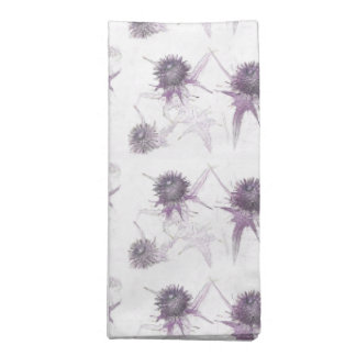 Purple thistle nature design napkin