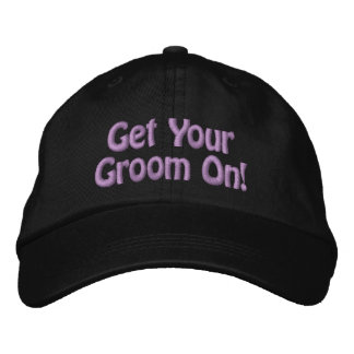 Purple Thread Get Your Groom On for Pet Groomer Embroidered Baseball Cap