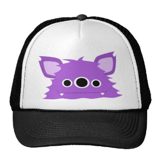 Purple Three Eyed Monster Cap