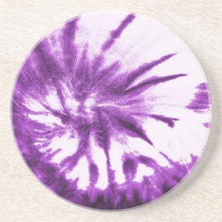 Purple Tie Dye Pattern Coaster