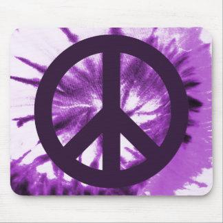 Purple Tie-Dye with Peace Symbol Mouse Mat