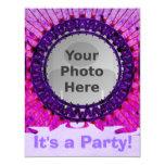 Purple Tiedye Photo Invitations 11 Cm X 14 Cm Invitation Card
