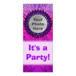 Purple Tiedye Photo Invitations 10 Cm X 24 Cm Invitation Card