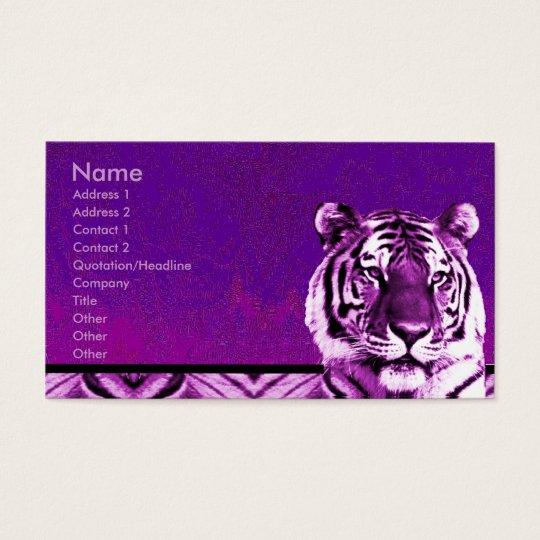 Purple Tiger Business Card