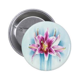 Purple Tiger Lilly 6 Cm Round Badge