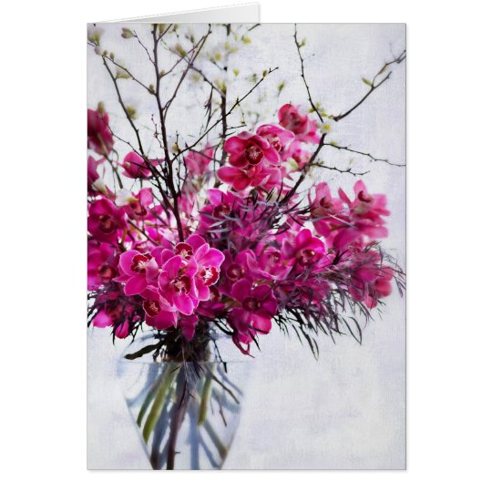 Purple Tiger Orchids Blank Greeting Cards