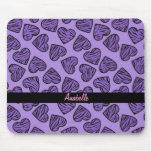 Purple tiger print hearts