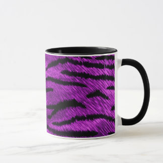 purple tiger print mug