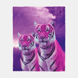 Purple Tigers Fleece Blanket