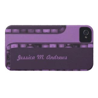 purple tile border iPhone 4 Case-Mate case