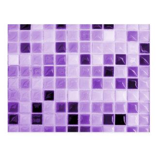 Purple Tile Pattern Postcard