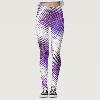 Purple tiled leggings