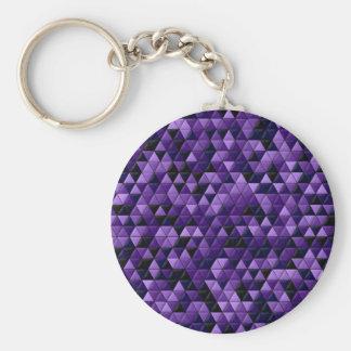 Purple Tiles Key Chains