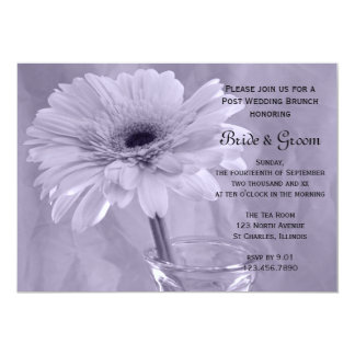 Purple Tinted Daisy Post Wedding Brunch Invitation