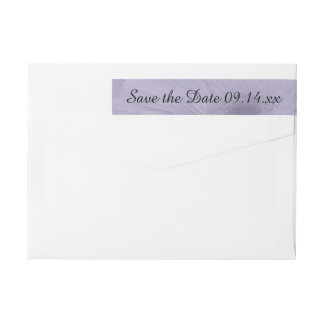 Purple Tinted Daisy Wedding Save the Date Wrap Around Label
