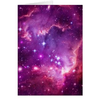 Purple Tinted Small Magellanic Cloud Greeting Card