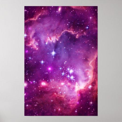 Purple Tinted Small Magellanic Cloud Poster