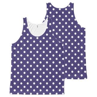 Purple Tiny Polka Dots Pattern Tank Top All-Over Print Tank Top