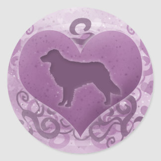 Purple Toller Valentine Sticker
