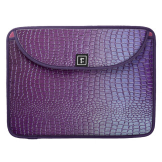 Purple Tone Snake Skin Look Pattern Sleeve For MacBook Pro
