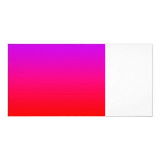 purple top red bottom gradient blank DIY custom Photo Cards