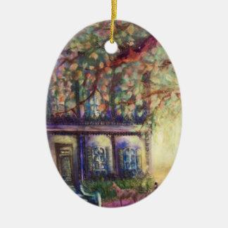 Purple Townhouse ornament