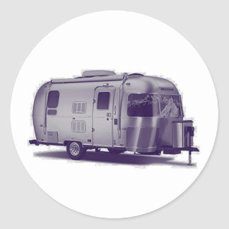 Purple Trailer Classic Round Sticker