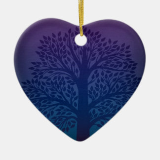 Purple Tree Christmas Ornament