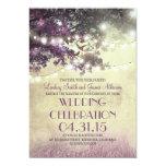 Purple tree Lights & Birds Wedding Invitation 13 Cm X 18 Cm Invitation Card