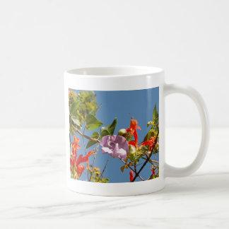 Purple Tree Orchid and Orange Flowers Coffee Mug