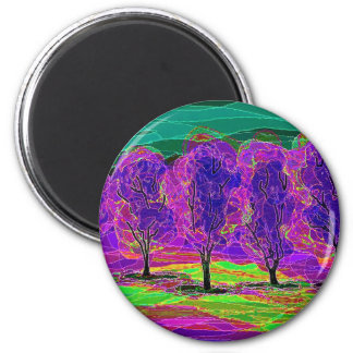 Purple Trees ... Magnet