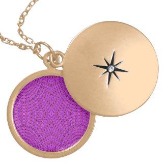 Purple trendy circle pattern pendants