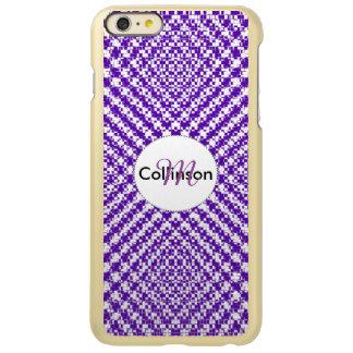 Purple Trendy Herringbone Patterned Personalized