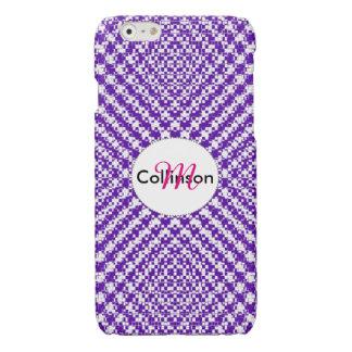 Purple Trendy Herringbone Patterned Personalized iPhone 6 Plus Case