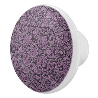 purple trendy modern pattern ceramic knob