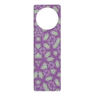 Purple trendy pattern door hanger