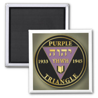 Purple Triangle gold magnet