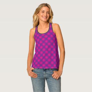 Purple Triangle Pattern Tank Top