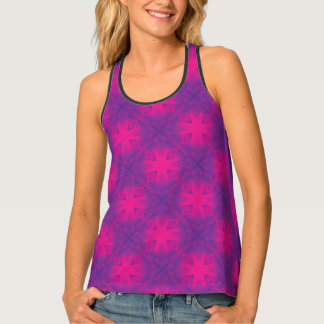 Purple Triangle Pattern Tank Top