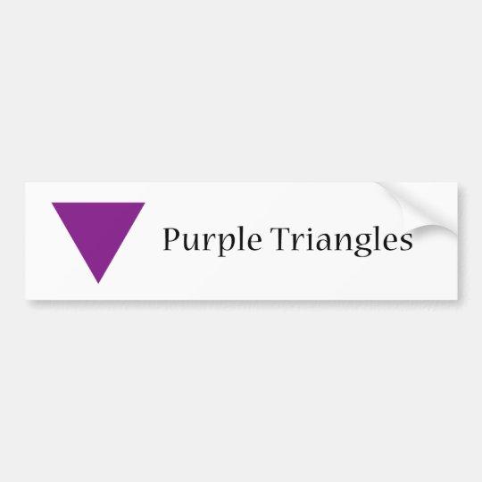 Purple Triangles Bumper Sticker