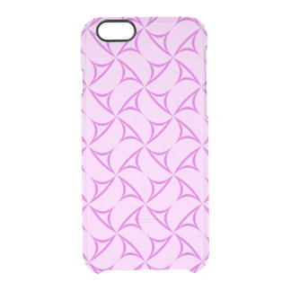 Purple triangles clear iPhone 6/6S case