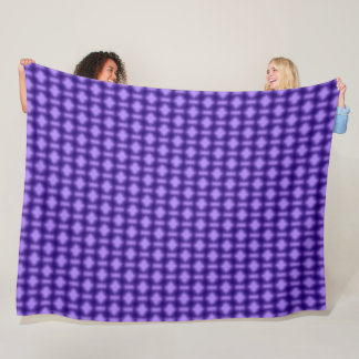 Purple Tribal Plush Pattern Fleece Blanket