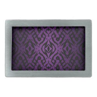 Purple tribal shapes pattern belt buckles