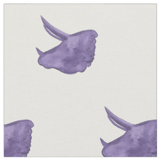 Purple Triceratops Fabric