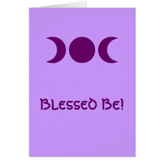 Purple Triple Goddess Card